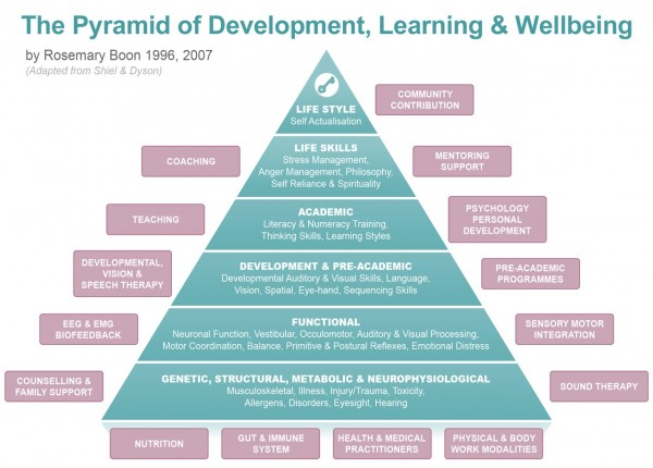 Pyramid of Development, Learning and Wellbeing